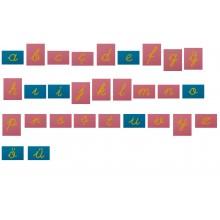 Sandpapierbuchstaben KLEINBUCHSTABEN TÜRKISCH