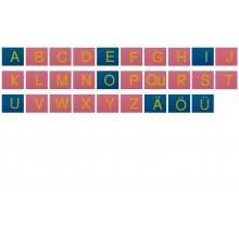 Sandpapierbuchstaben Großbuchstaben Druckschrift Rosa/Blau