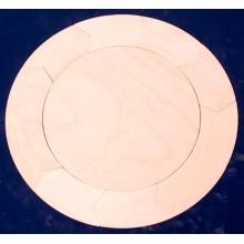 Holztäfelchen Kreis 10-Teiler