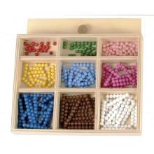 Perlenstäbchen für die Gr. Multiplikation 8mm Holzperlen