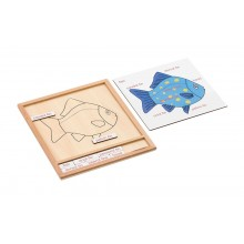 Colored animal puzzle activity set - fish