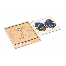 Colored animal puzzle activity set - butterfly