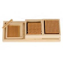Einführung im Dezimalsystem 9er Spiel 8 mm Holzperlen
