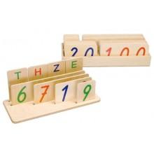 Zahlenkarten mit Stellbrett mit E/Z/H/T