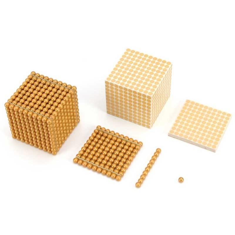 Holzkubus zu Perlmaterial