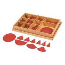 Box mit Bruchrechenkreisen Große Teile