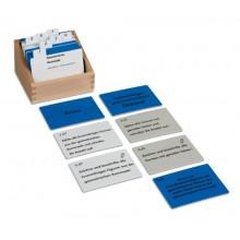 Kasten mit Aufgabenkarten für die geometrische Kommode