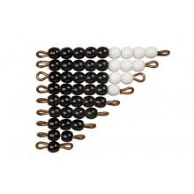 Schwarz-weiße Perlentreppen - ein Satz lose Perlen, Glas