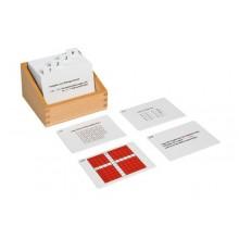Kasten mit Aufgabenkarten für das Pythagorasbrett